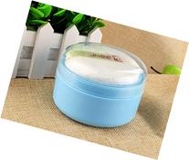 Cute PP Baby Face Body Cosmetic Powder Puff Sponge Box Case
