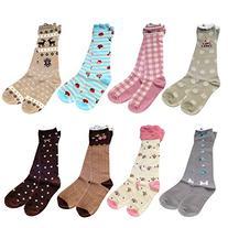 Deer Mum 8 Pairs Girls Princess Style Knee High Socks -