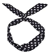 FOONEE Cute Rabbit Ears Polka Dot Headband Ponytail Holder,