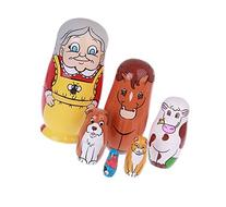 EVINIS Cutie Lovely Grandma and Animals Nesting Dolls