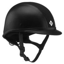 CW AYR8 Leather Look Riding Helmet - Size:6 7/8 Color:Black