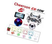Cheerson CX-10W Mini Wifi FPV 0.3MP Cam LED 3D Flip 2.4G 4CH