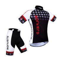 WOLFBIKE Men's Cycling Short Sleeve Jersey, OR Jersey + 3D