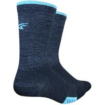 DeFeet Cyclismo Wool 5in Socks Charcoal/Carolina Blue, L