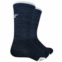 "Defeet Cyclismo Wool 5"" Socks, Large, Charcoal/White"