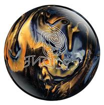 Ebonite Cyclone Bowling Ball, Black/Gold/Silver, 10