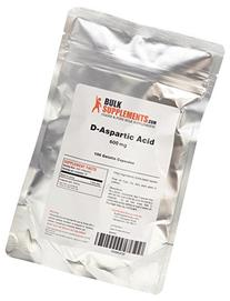 BulkSupplements Pure D-Aspartic Acid Capsules - 600mg
