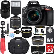 Nikon D5600 DSLR Camera w/ AF-P 18-55mm + 70-300mm SLD DG