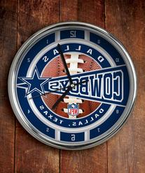 WinCraft Dallas Cowboys Round Chrome Wall Clock