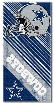 Dallas Cowboys NFL Football Diagonal Design Bath Beach Towel