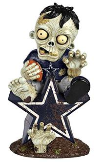 Dallas Cowboys Zombie Figurine - On Logo
