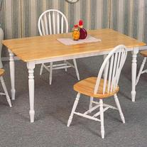 Coaster Damen Rectangle Leg Dining Table in Warm Natural and