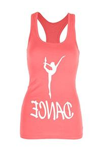Beachcoco Dance Printed Fitted Racerback Tank Top