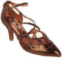 Capezio Women's Capezio Dancesport Gabriella Shoe,Bronze,6 M
