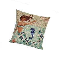 Dancing mermaid Pillow cover Cotton Linen Cushion Covers