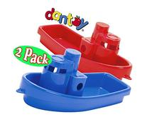 Dantoy Stacking Tug Boats Red & Blue Gift Set Bundle - 2