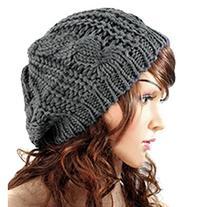 Dealzip Inc® Dark Gray Fashion Women Knit Crochet Beanie