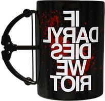 Walking Dead If Daryl Dies We Riot Crossbow Mug