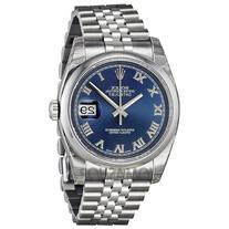 Rolex Datejust Blue Dial Stainless Steel Jubilee Bracelet