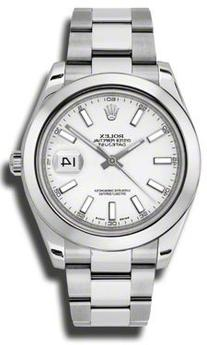 Rolex Datejust II White Dial Stainless Steel Automatic Mens