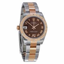 Rolex Datejust Lady 31 Chocolate Dial Steel and 18K Rose