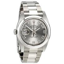 Rolex Datejust Rhodium Concentric Dial Stainless Steel Mens