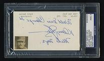 Davey Johnson Signed 3x5 Index Card with Notations about the