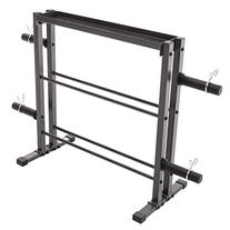 Marcy Combo Weights Storage Rack for Dumbbells, Kettlebells