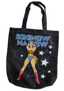 DC Comics WONDER WOMAN Black Tote Bag
