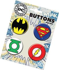 Ata-Boy DC Comics Originals Logo Assortment #3 4 Button Set