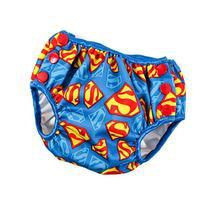 Bumkins DC Comics Reusable Swim Diaper, Superman Print,