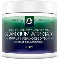 InstaNatural Dead Sea Mud Mask 19 oz- Reduce Facial Pores -