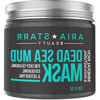 Aria Starr Beauty Dead Sea Mud Mask For Face, Acne, Oily