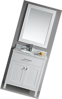 Design Element DEC076E-W London 30-Inch Single Sink Vanity