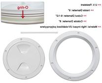 """DECK PLATE- 6"""" DIAMETER WITH RUBBER SEALER O RING AND UV"""