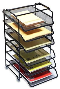 DecoBros STACKABLE 3 Tier Desk Document Letter Tray