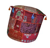 Decorative Entrance Embroider Patchwork Ottoman Cover 18 X