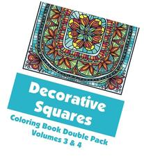Decorative Squares Coloring Book Double Pack