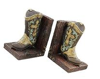 Decorative Western Cowboy Boot Bookends Book Ends
