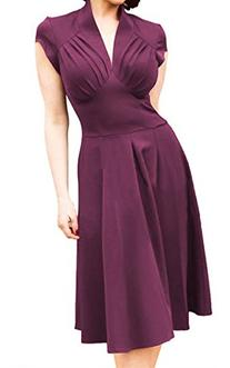ACEVOG New Womens Deep V-neck Sexy Formal Party Cocktail