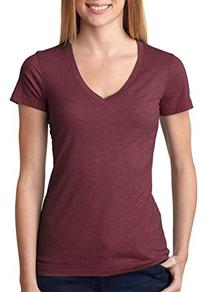 Russell Athletic Women's Deep V-Neck Tee, Royal Blue Heather