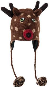 Nirvanna Designs CHDEER Deer Hat with Fleece, Brown, Toddler