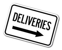 """Deliveries with right arrow Sign 12"""" x 18"""" Heavy Gauge"""