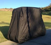 "Deluxe 2 Passenger Golf Cart Cover in Black roof up to 58"","
