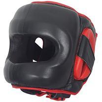 Ringside Deluxe Face Saver Boxing Headgear, Black, Large/X-