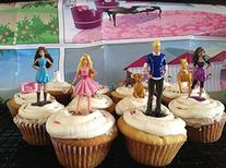 Barbie Deluxe Figure Set of 12 Cake Toppers Cupcake Toppers
