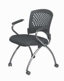 Office Star Deluxe Ventilated Plastic Back amd Padded Coal
