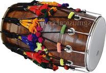SG Musical Black Sheesham Wood Bhangra Dhol NEW