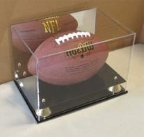 DisplayGifts Deluxe UV Acrylic Full Size Football Display