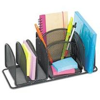 Deluxe Organizer, Six Compartments, Steel, 12 1/2 x 5 1/4 x
